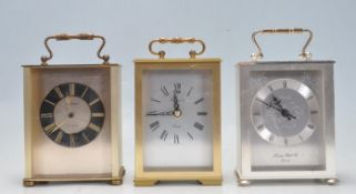 COLLECTION OF VNTAGE 20TH CENTURY CARRIAGE CLOCKS