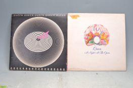 COLLECTION OF TWO VINTAGE VINYL RECORDS BY QUEEN