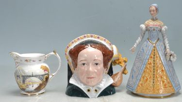 COLLECTION OF 20TH CENTURY CERAMIC TO INCLUDE DRESDEN, ROYAL DOULTON, COALPORT