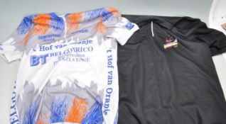 TWO 1980'S CYCLING JERSEYS
