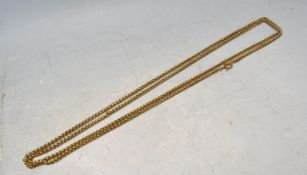 VINTAGE STYLE BRASS LONG GUARD CHAIN.