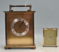 VINTAGE 20TH CENTURY ANGELUS MANTEL CLOCK WITH ANOTHER