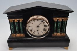 VINTAGE 20TH CENTURY MANTEL CLOCK OF ARCHITECTURAL FORM