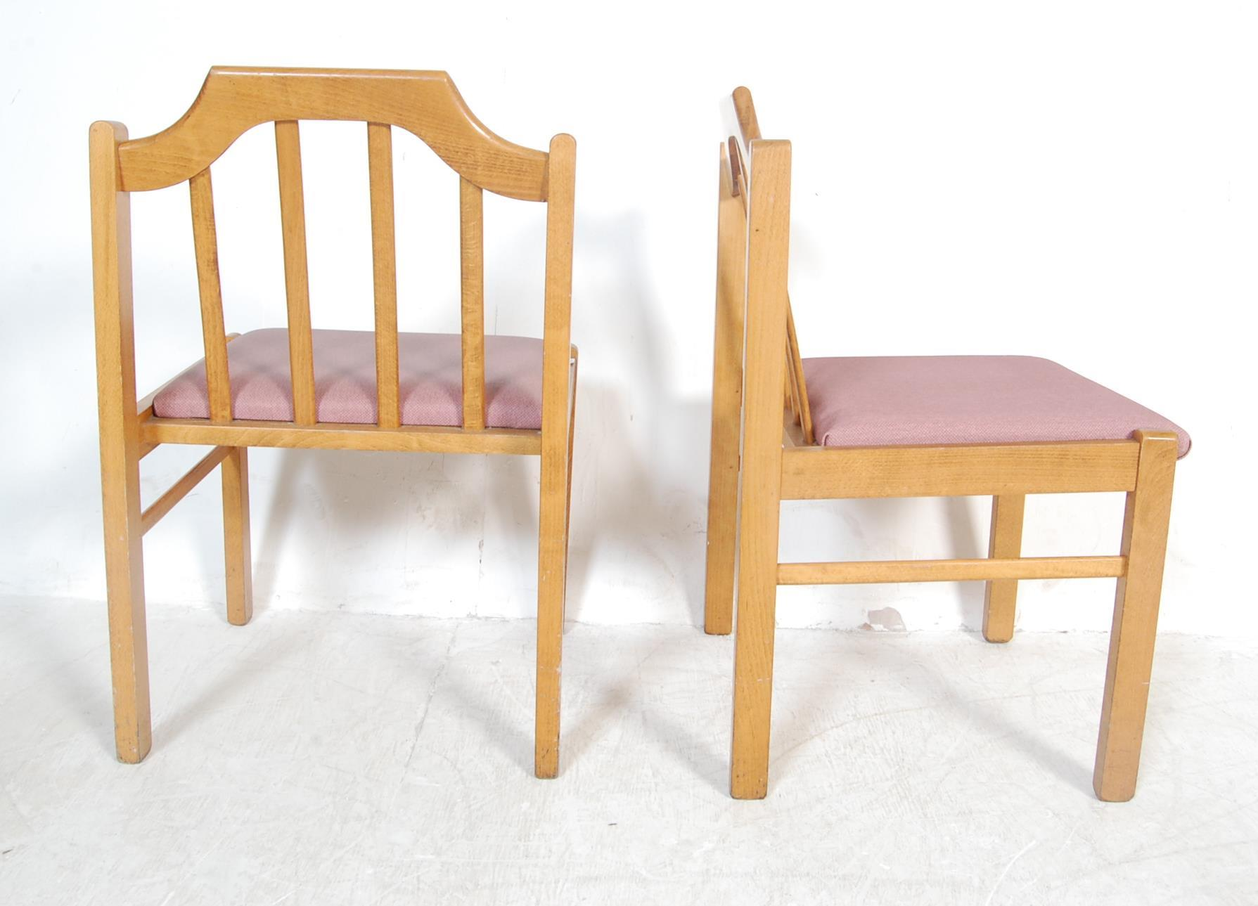 EIGHT VINTAGE GOLDEN OAK DINING CHAIRS - Image 6 of 8