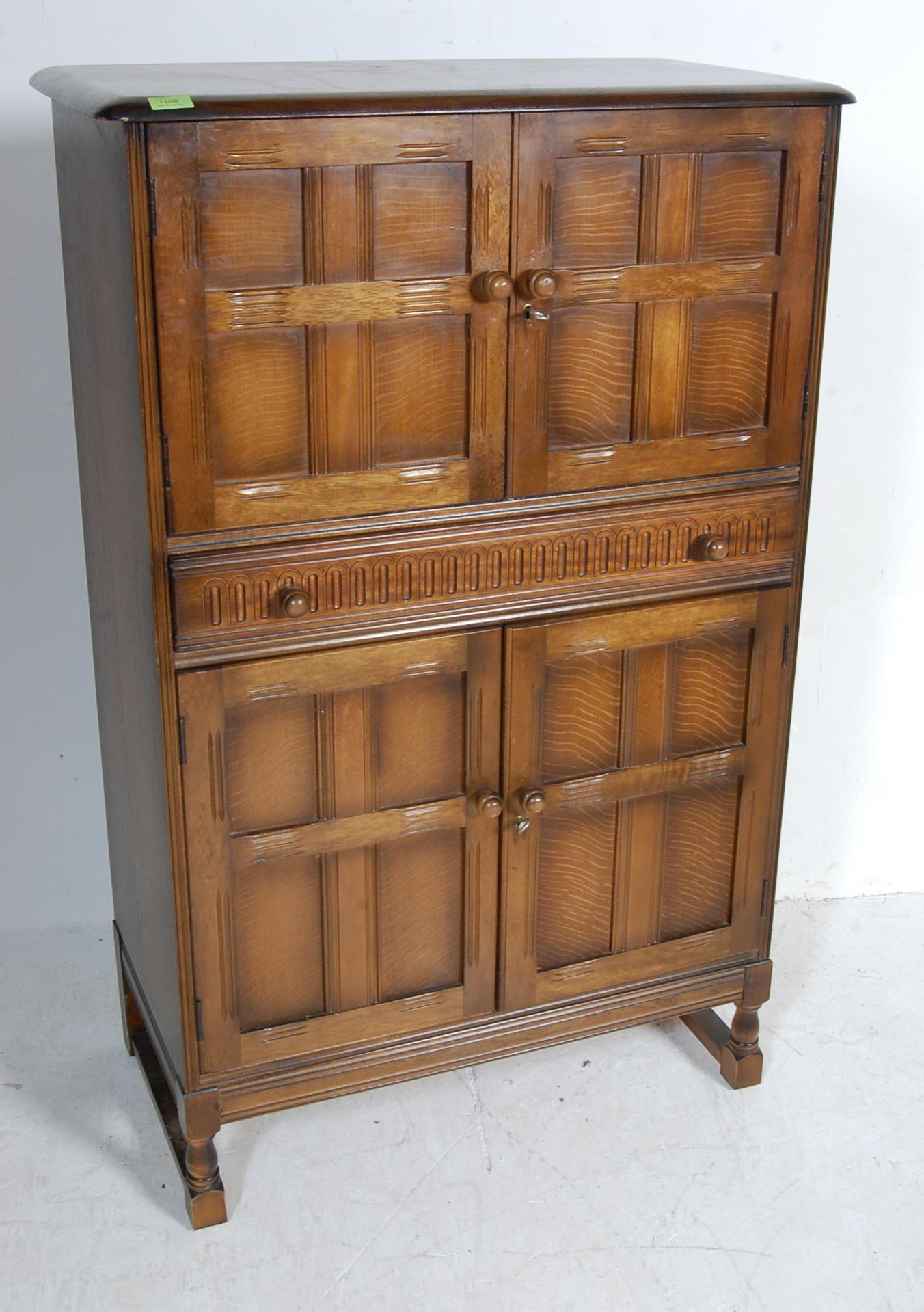 MID CENTURY OAK COCKTAIL CABINET - Image 2 of 6