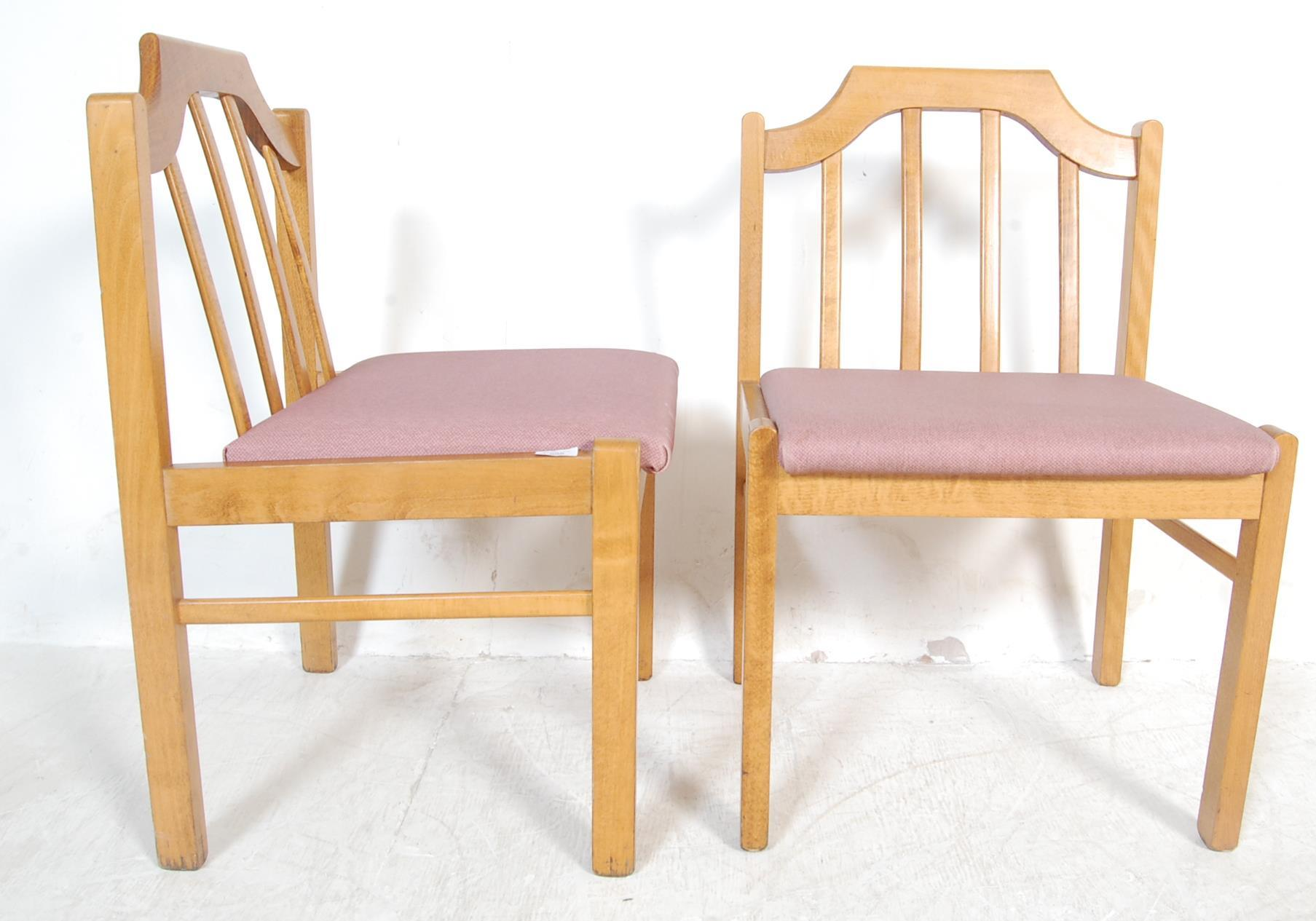 EIGHT VINTAGE GOLDEN OAK DINING CHAIRS - Image 5 of 8