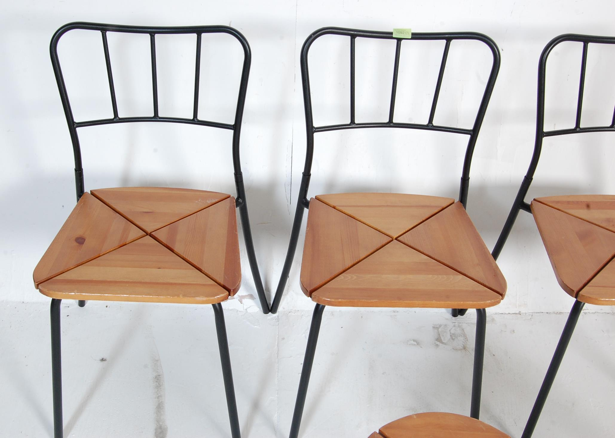 SET OF FOUR CONTEMPORARY INDUSTRIAL DINING CHAIRS - Image 3 of 7