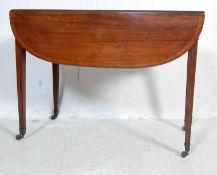 19TH CENTURY GEORGIAN MAHOGANY PEMBROKE TABLE