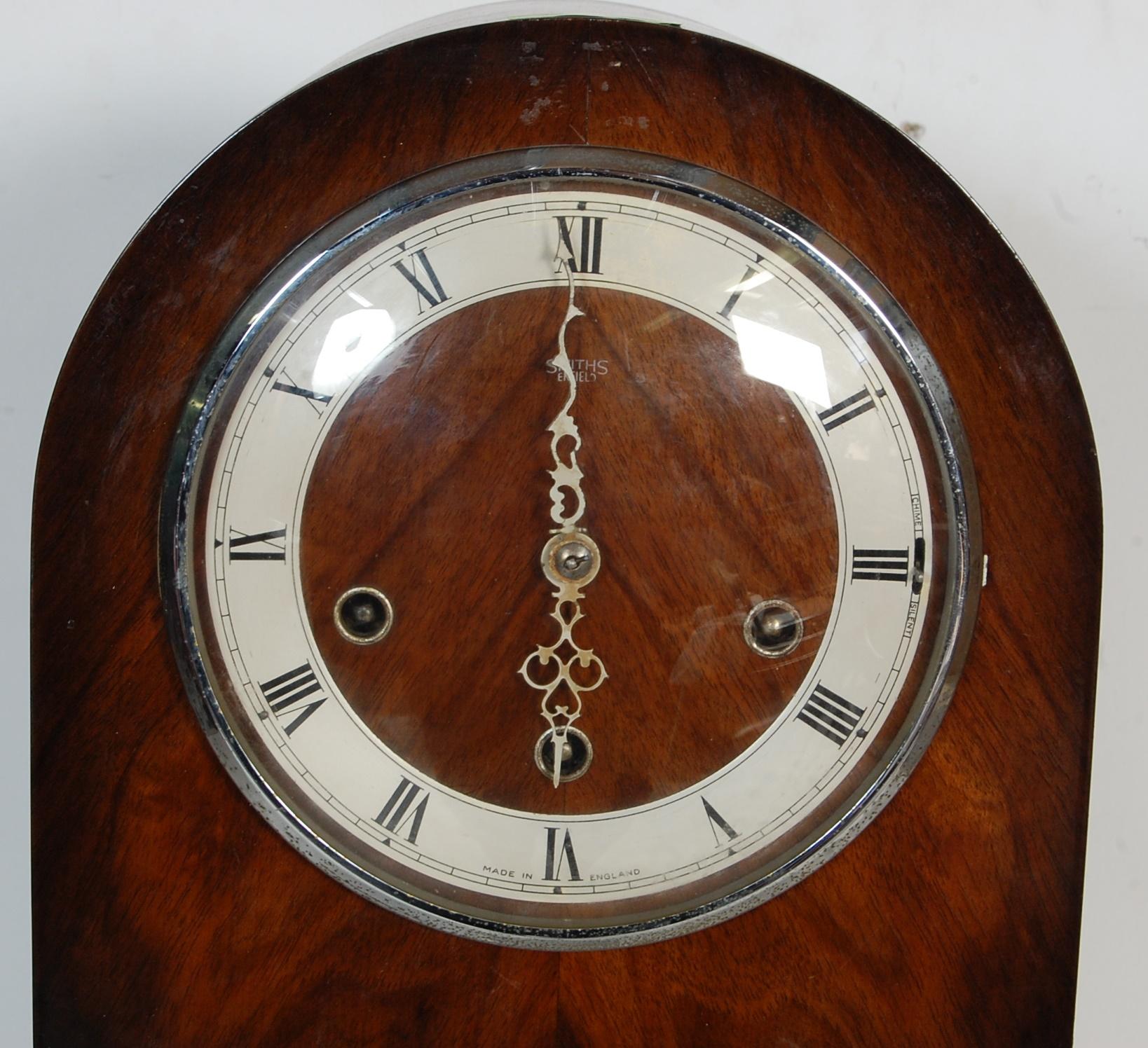 EARLY 20TH CENTURY 1930S WALNUT VENEER 8 DAY GRANDMOTHER CLOCK - Image 2 of 8