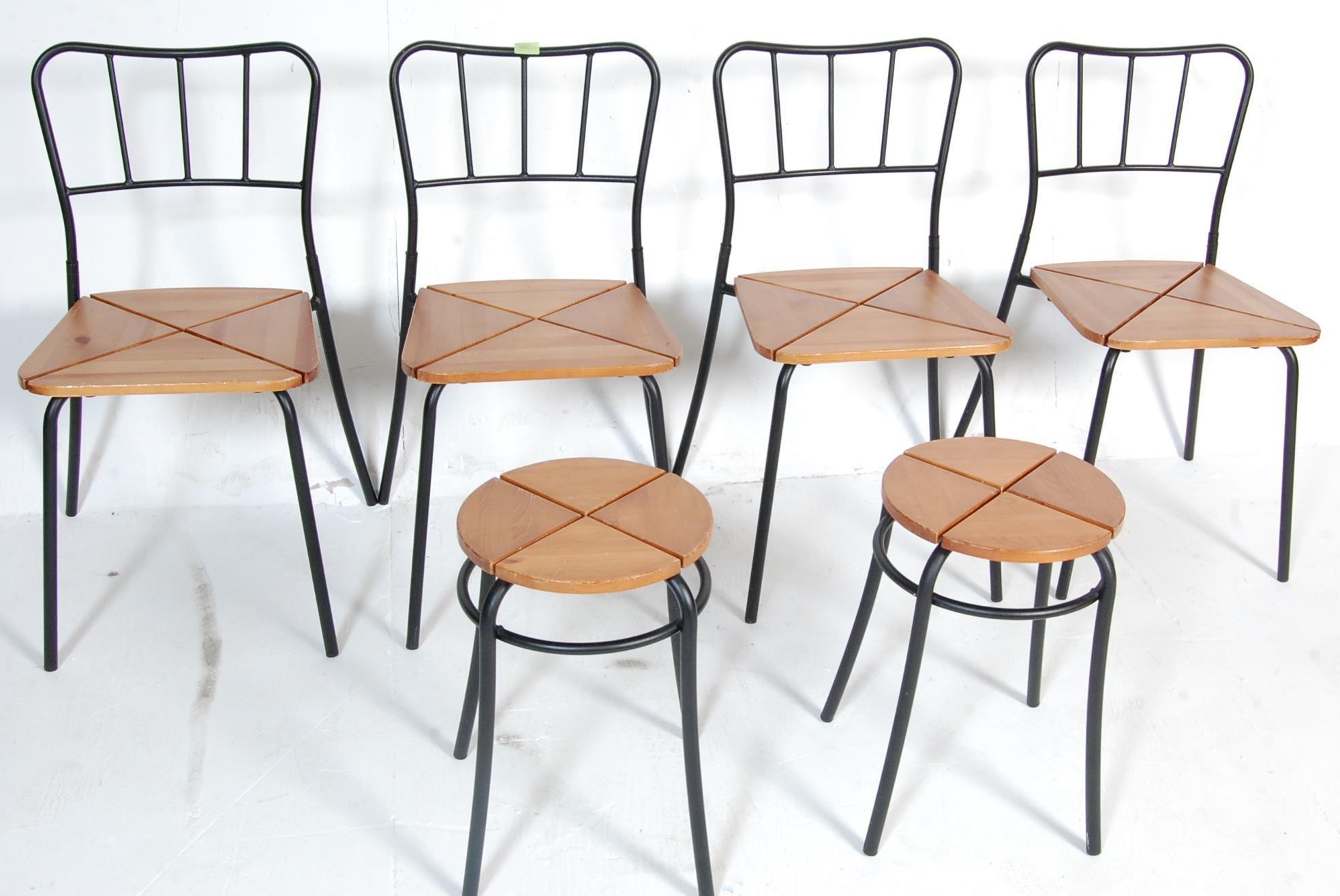 SET OF FOUR CONTEMPORARY INDUSTRIAL DINING CHAIRS - Image 2 of 7
