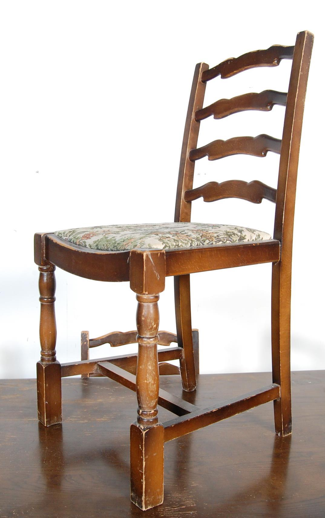 RETRO VINTAGE LATE 20TH CENTURY ERCOL STYLE DINING TABLE AND CHAIRS - Image 3 of 8