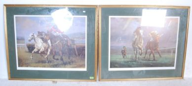 TWO HORSE RACING INTEREST PRINTS