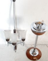 RETRO VINTAGE FLOOR STANDING ASH TRAY AND CEILING LIGHT