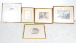 COLLECTION OF FIVE VINTAGE WILLIAM R. FLINT PICTURE PRINTS
