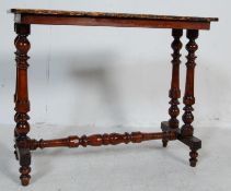 ANTIQUE EARLY 20TH CENTURY MAHOGANY SIDE TABLE / WRITING TABLE