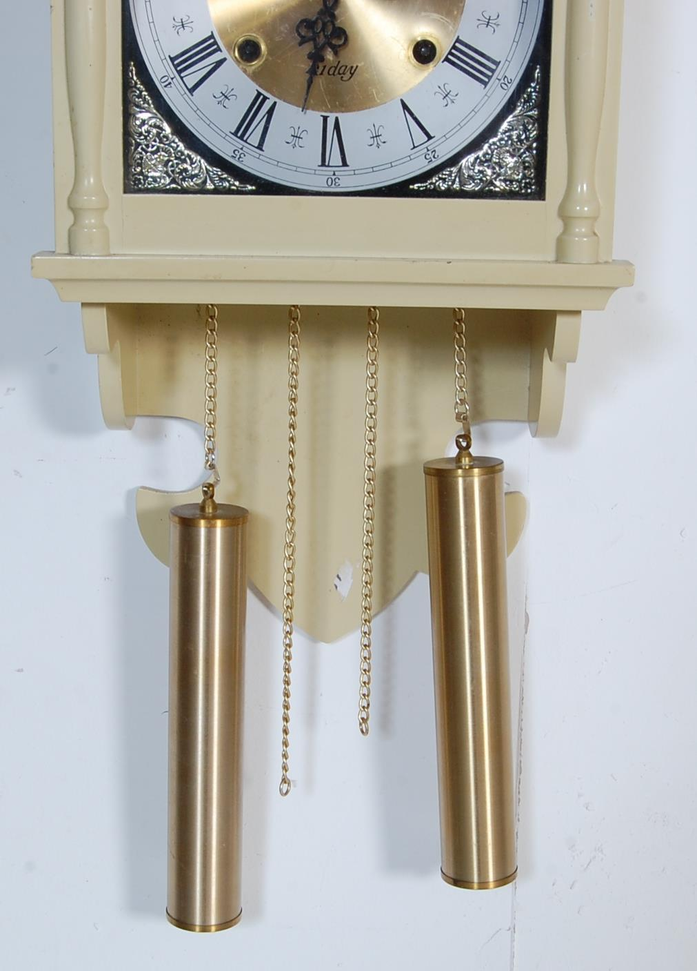COLLECTION OF FOUR VINTAGE 20TH CENTURY WALL HANGING CLOCKS - Image 4 of 8