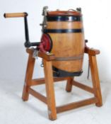 20TH CENTURY OAK CHURN AND STAND BY WAIDE AND SONS LTD