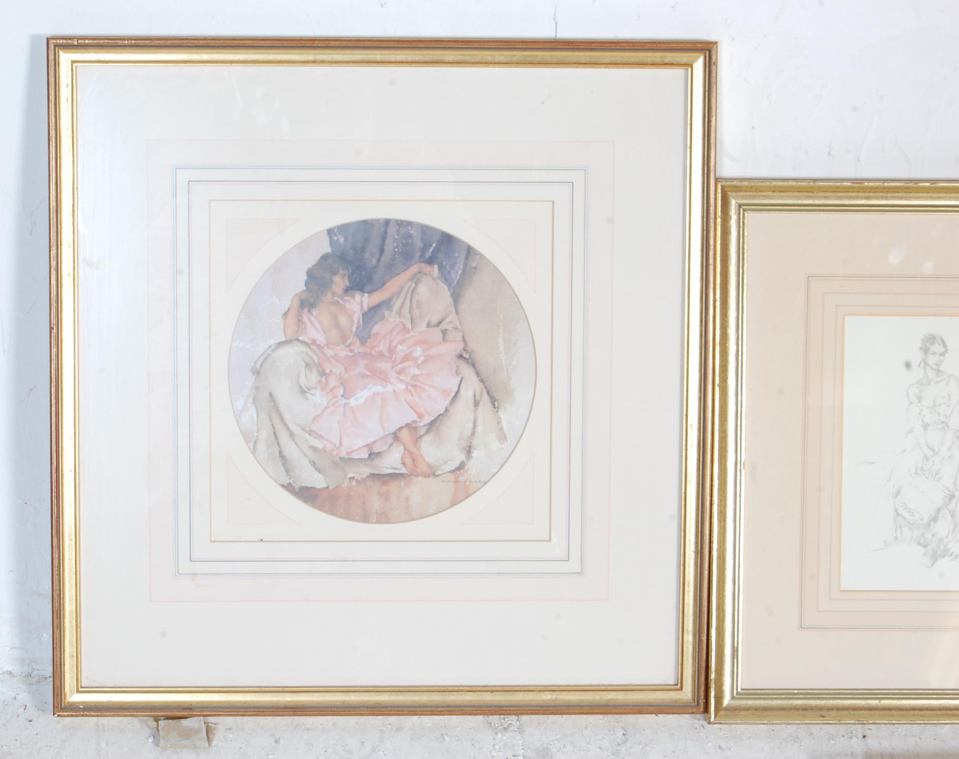 COLLECTION OF FIVE VINTAGE WILLIAM R. FLINT PICTURE PRINTS - Image 2 of 6