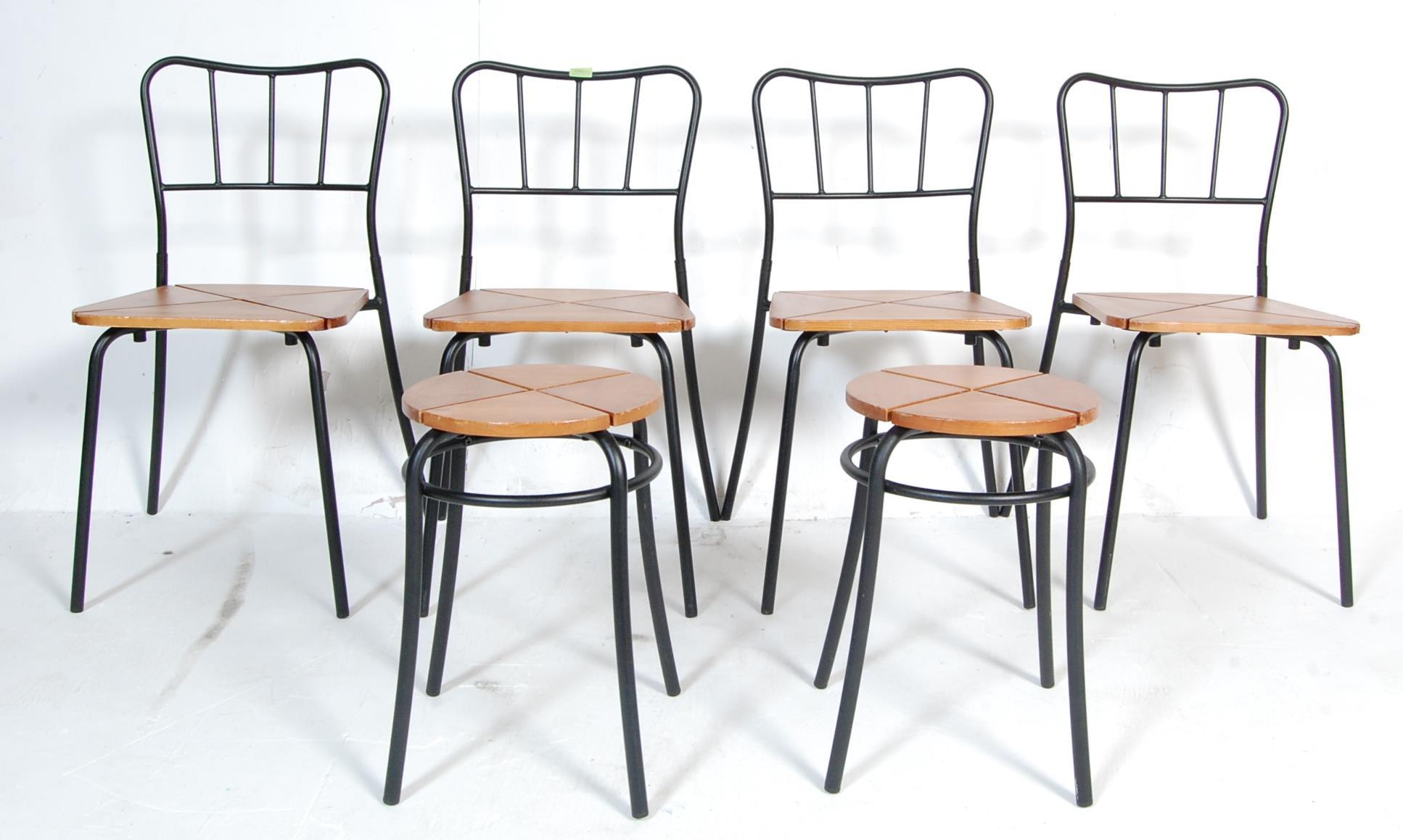 SET OF FOUR CONTEMPORARY INDUSTRIAL DINING CHAIRS