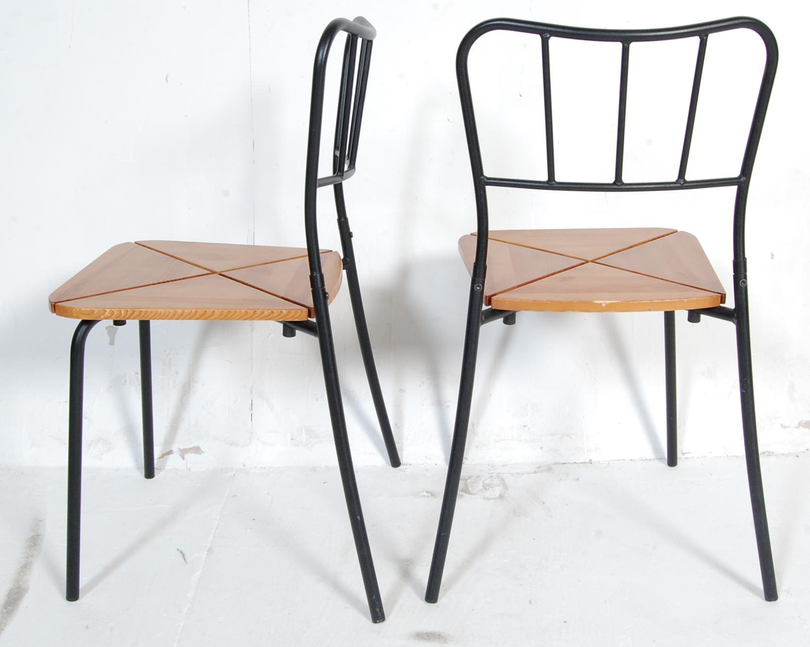 SET OF FOUR CONTEMPORARY INDUSTRIAL DINING CHAIRS - Image 7 of 7