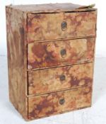 EARLY 20TH CENTURY FABRIC COVERED MINIATURE CHEST