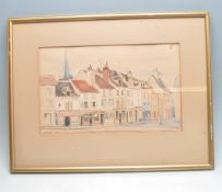 AGNES SIM (1887 - 1978) A 20TH CENTURY WATERCOLOUR DEPICTING A FRENCH STREET SCENE.