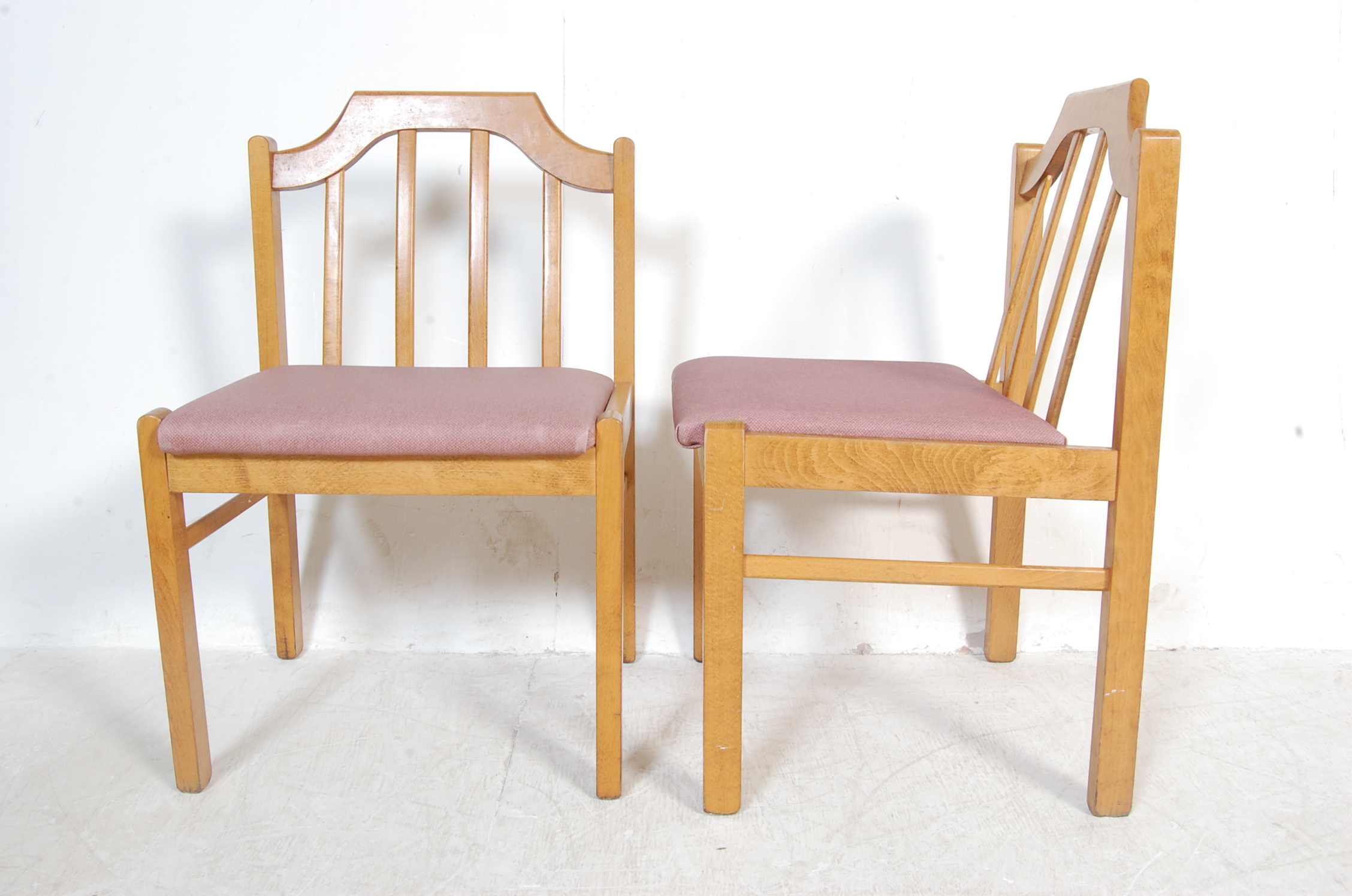 EIGHT VINTAGE GOLDEN OAK DINING CHAIRS - Image 8 of 8