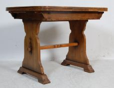 1940'S OAK EXTENDING DRAW LEAF DINING TABLE