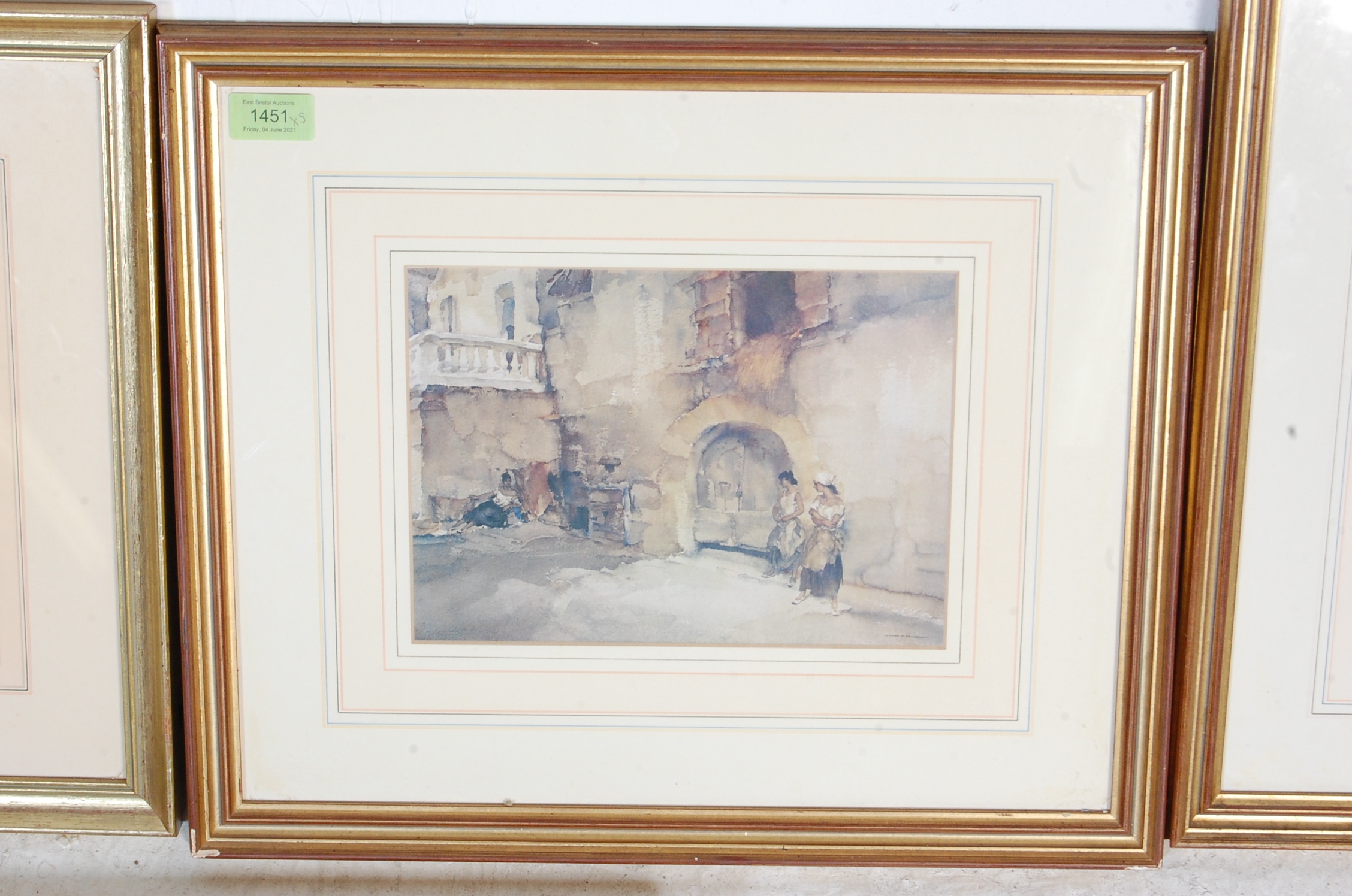 COLLECTION OF FIVE VINTAGE WILLIAM R. FLINT PICTURE PRINTS - Image 4 of 6