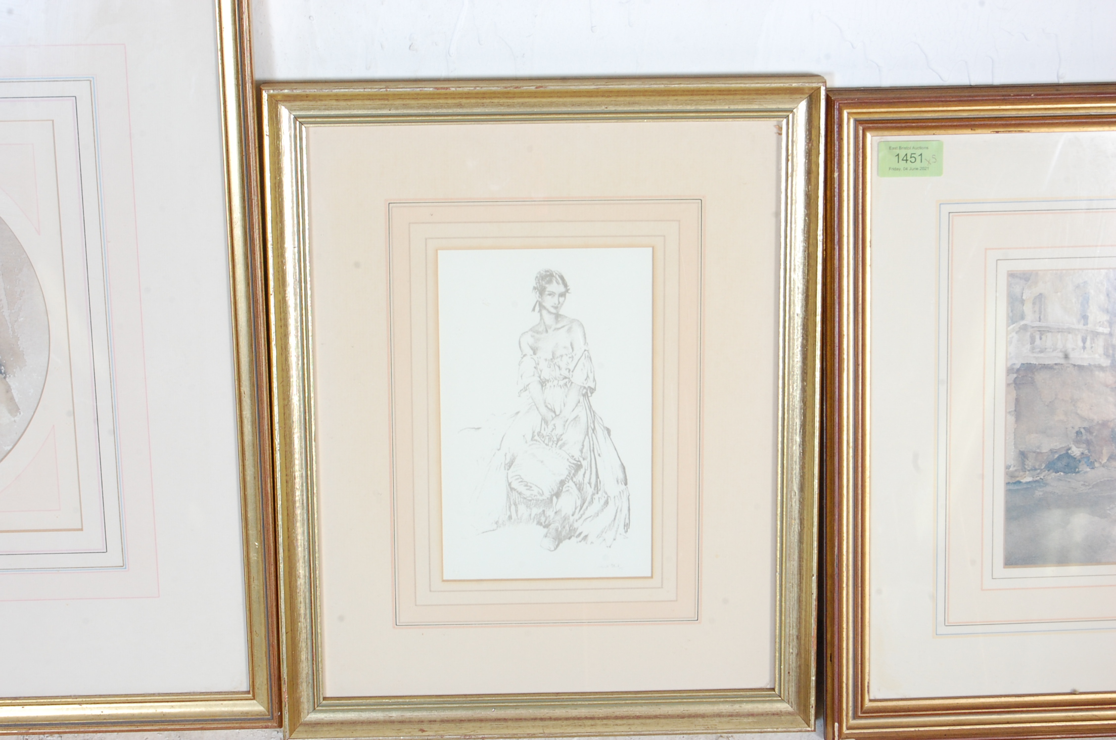 COLLECTION OF FIVE VINTAGE WILLIAM R. FLINT PICTURE PRINTS - Image 3 of 6