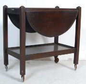 MID 20TH CENTURY OAK TROLLEY - BUTLERS SERVING TABLE