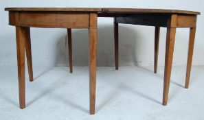 19TH CENTURY VICTORIAN MAHOGANY D-END TABLE