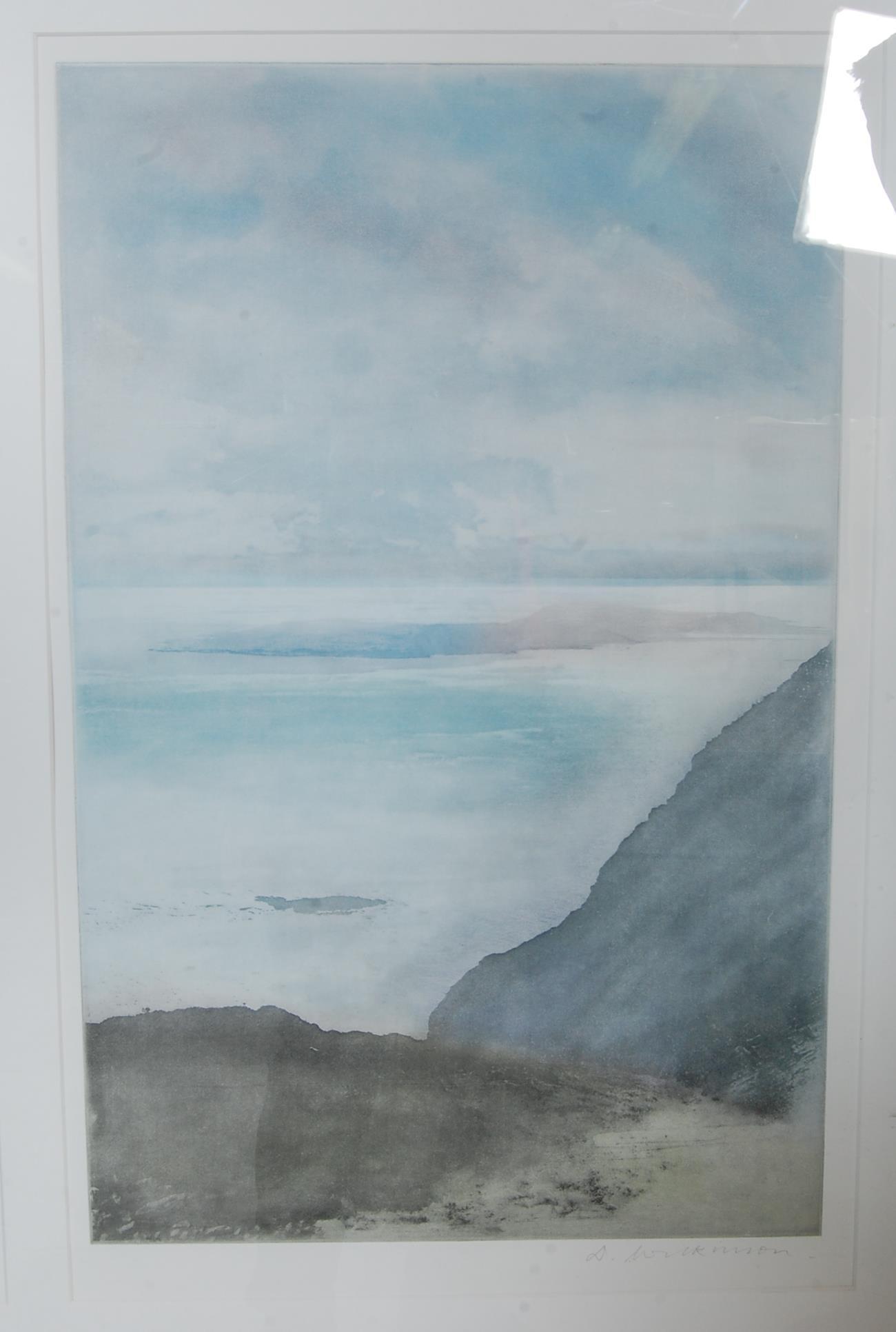 DEREK WILKINSON (BRITISH 1921-2001) 20TH CENTURY WATERCOLOUR SEASCAPE - Image 5 of 7