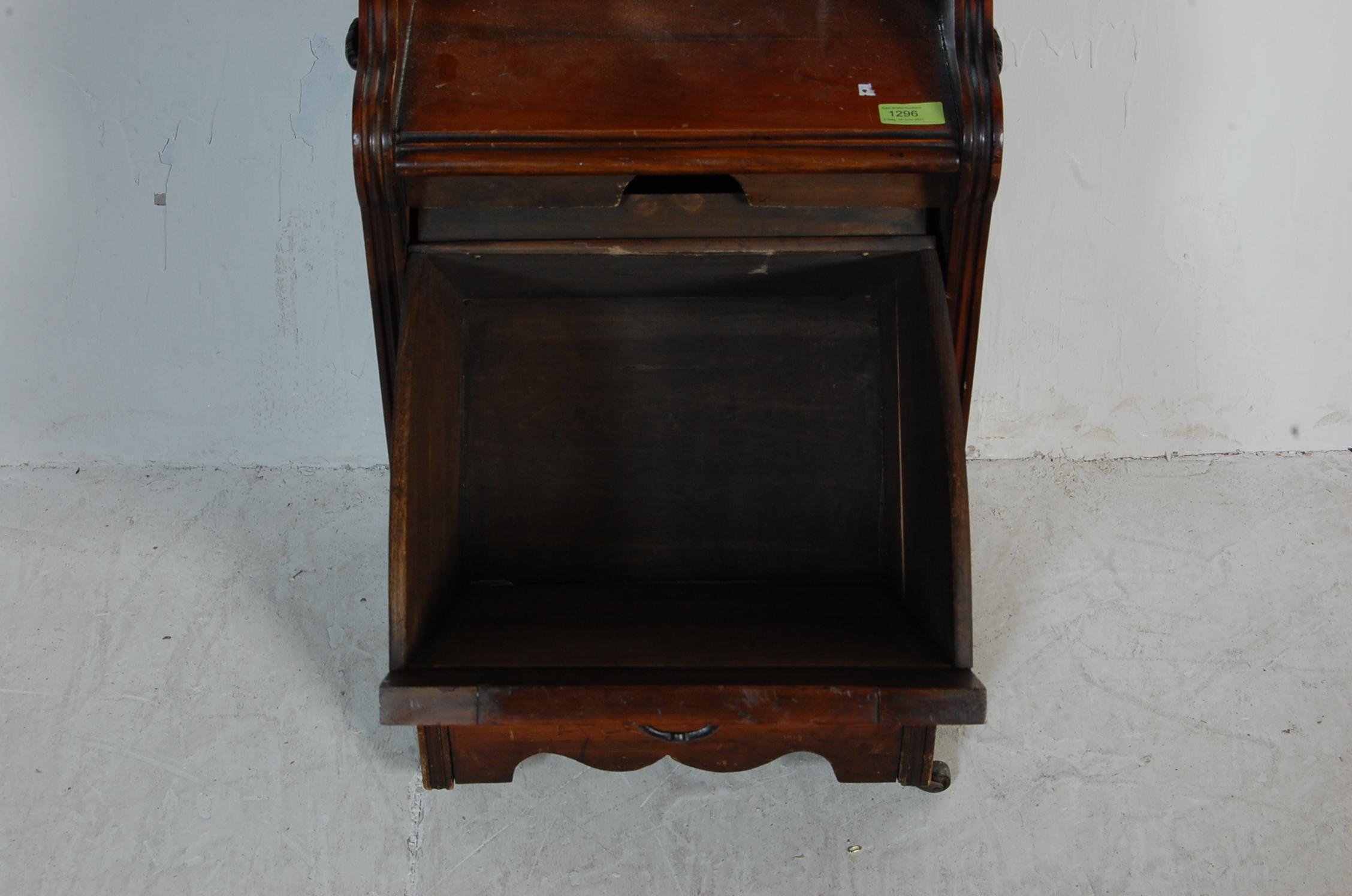 19TH CENTURY VICTORIAN MAHOGANY PURDONIUM COAL SCUTTLE - Image 4 of 5
