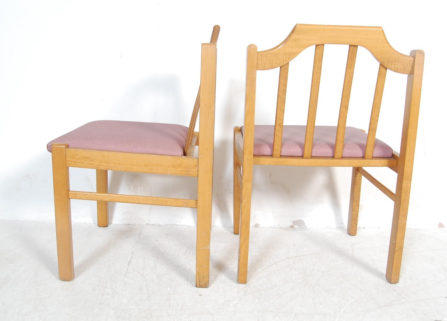 EIGHT VINTAGE GOLDEN OAK DINING CHAIRS - Image 7 of 8
