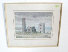 WHEAL COATES - SIDNEY FERRIS WATERCOLOUR PAINTING