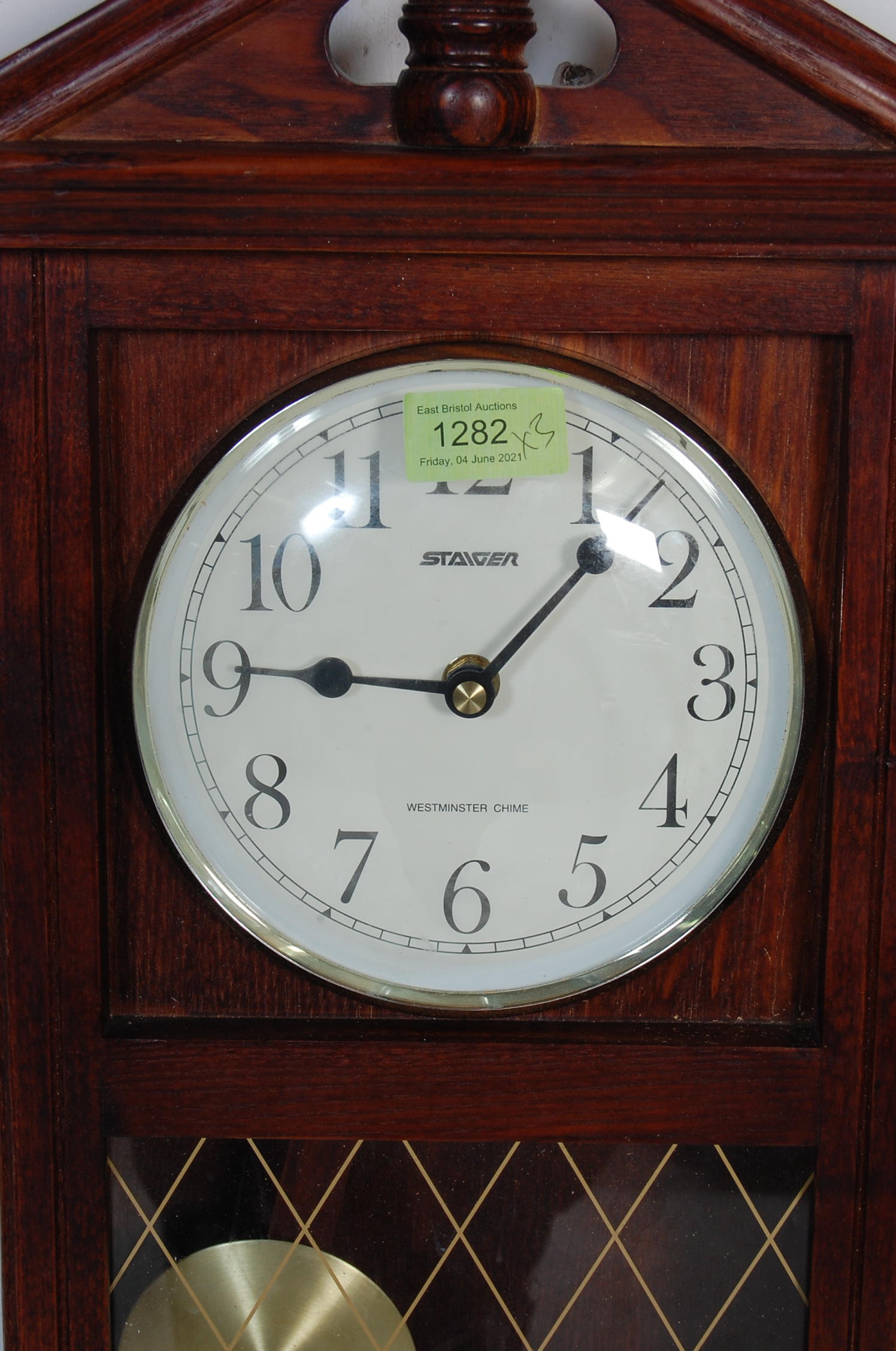 COLLECTION OF FOUR VINTAGE 20TH CENTURY WALL HANGING CLOCKS - Image 6 of 8