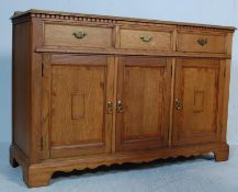 EARLY 20TH CENTURY ARTS AND CRAFTS OAK SIDEBOARD CREDENZA