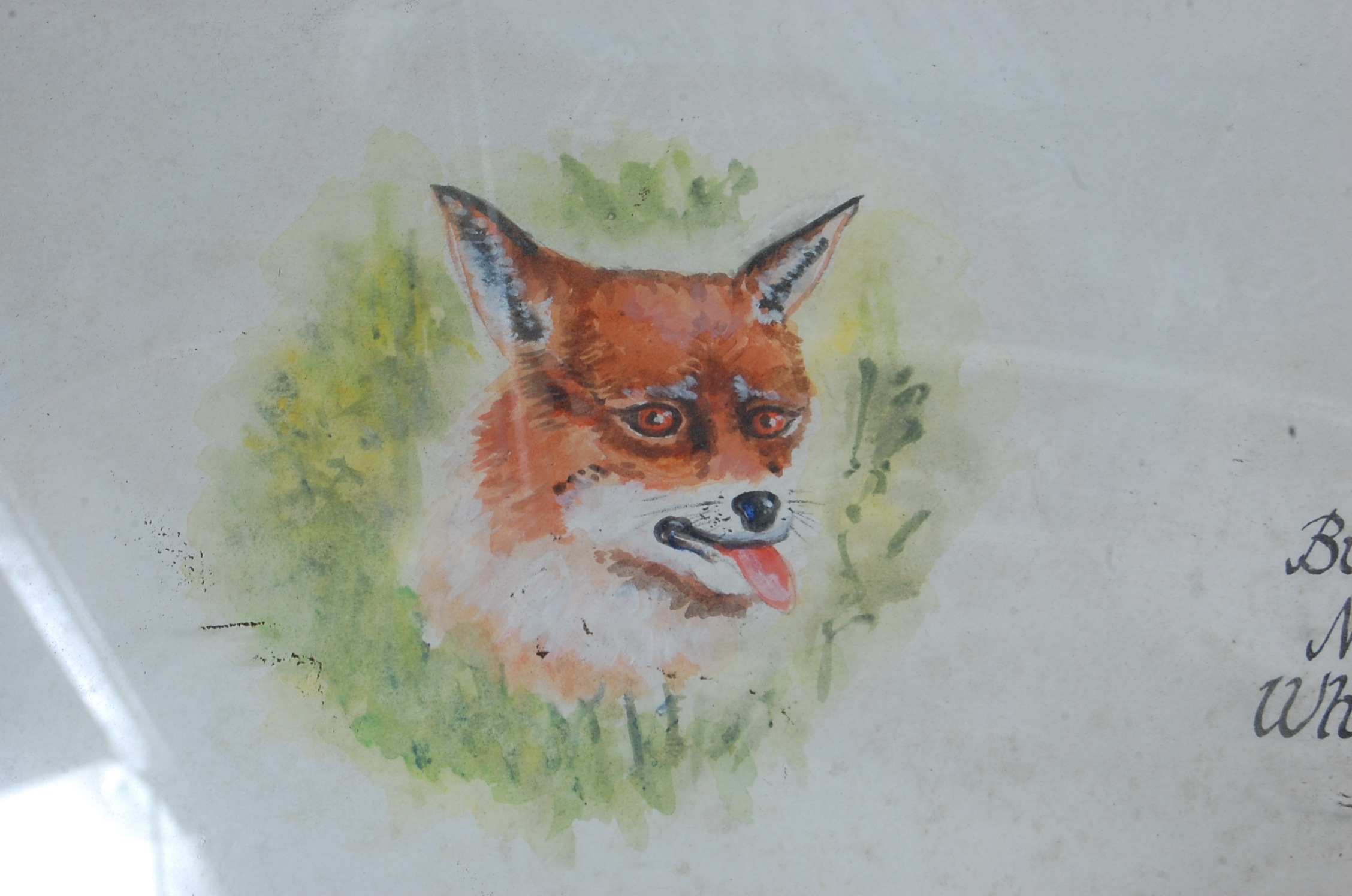 LARGE VINTAGE LATE 20TH CENTURY FOXES PROPHECY PICTURE - Image 8 of 8