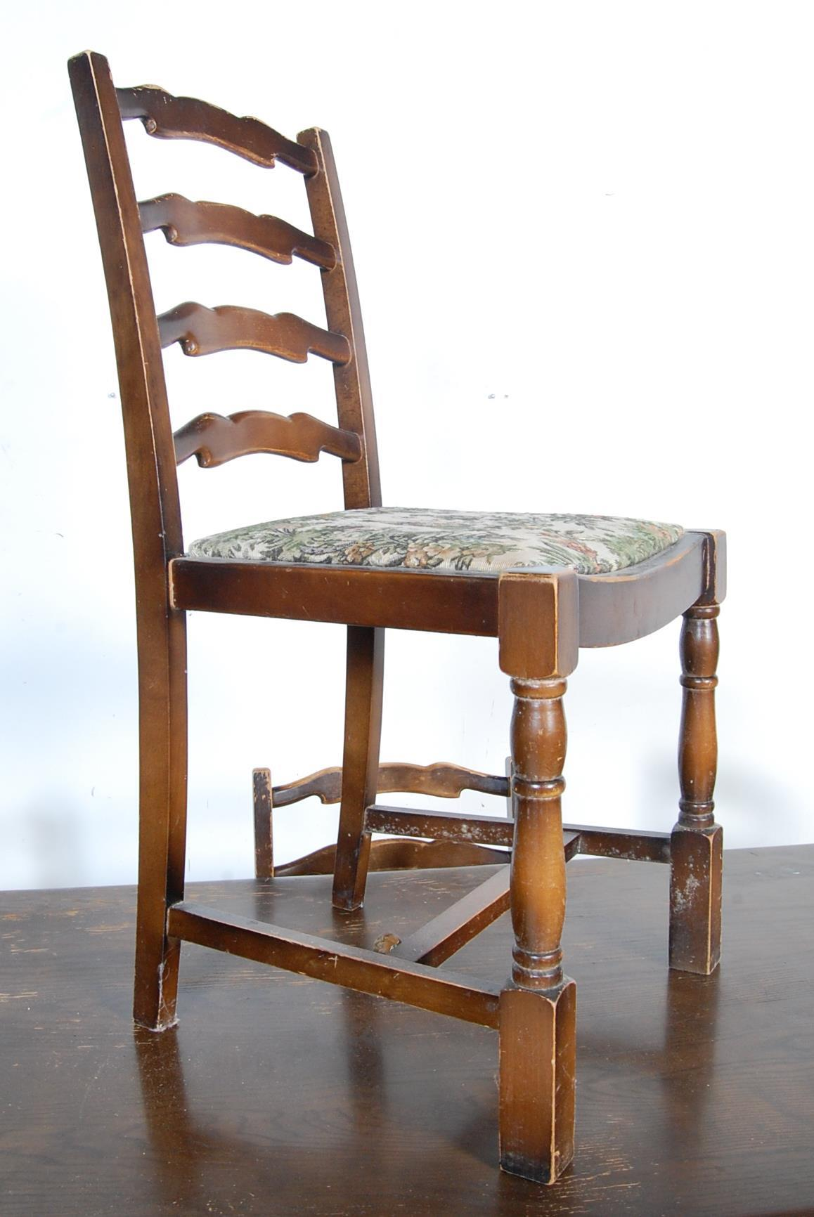 RETRO VINTAGE LATE 20TH CENTURY ERCOL STYLE DINING TABLE AND CHAIRS - Image 2 of 8