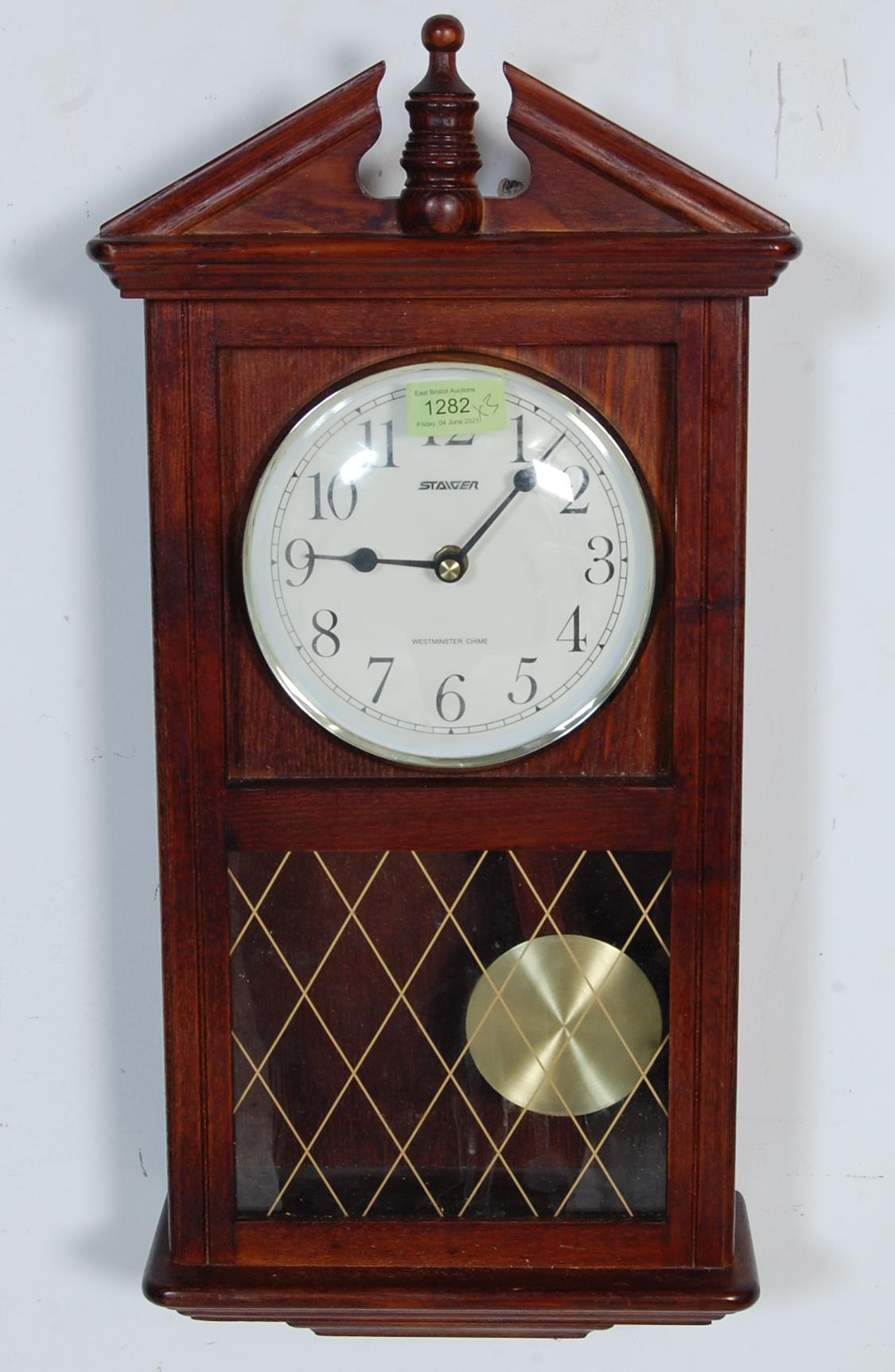 COLLECTION OF FOUR VINTAGE 20TH CENTURY WALL HANGING CLOCKS - Image 5 of 8