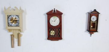 COLLECTION OF FOUR VINTAGE 20TH CENTURY WALL HANGING CLOCKS
