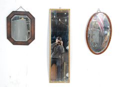 GROUP OF THREE 20TH CENTURY WALL HANGING MIRRORS