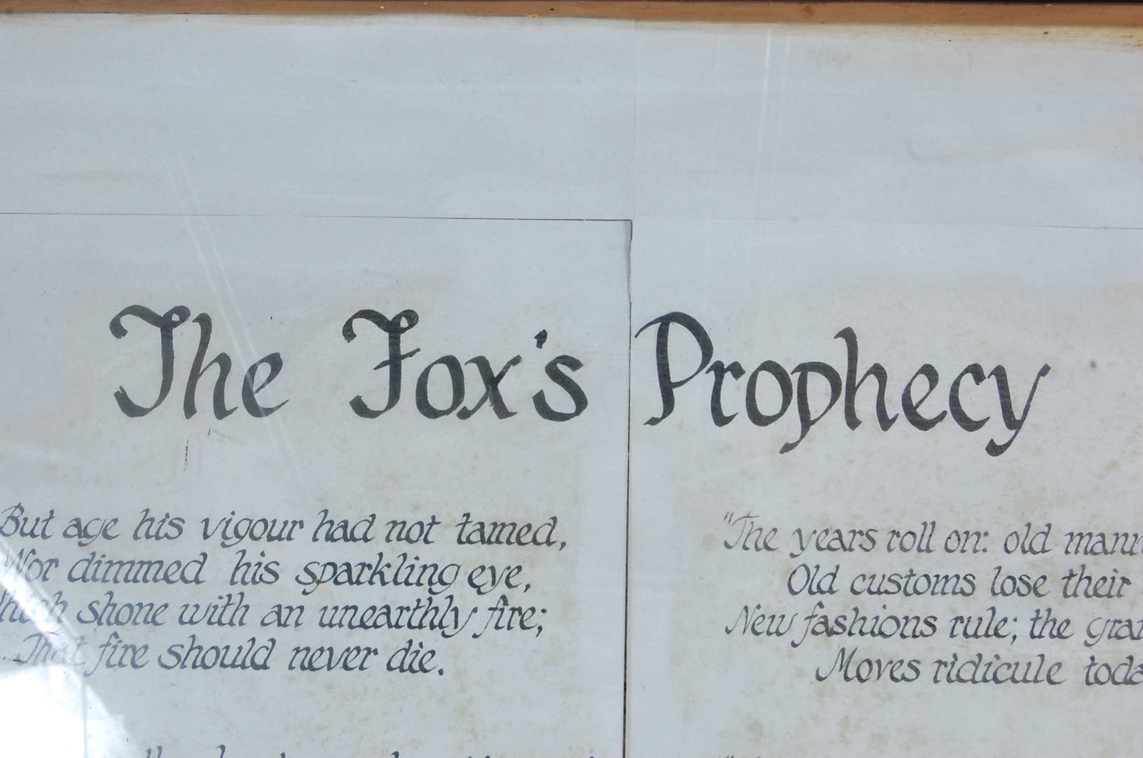 LARGE VINTAGE LATE 20TH CENTURY FOXES PROPHECY PICTURE - Image 7 of 8