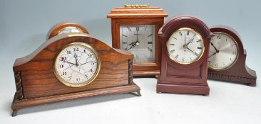 COLLECTION OF FIVE VINTAGE 20TH CENTURY MANTEL CLOCKS