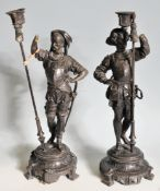 PAIR OF EARLY 20TH CENTURY SPELTER FIGURINES