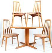 KOEFOEDS HORNSLET DANISH TEAK DINING SUITE (TABLE AND CHAIRS)