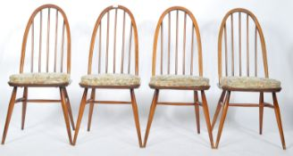ERCOL QUAKER WINDSOR PATTERN SET OF FOUR DINING CHAIRS