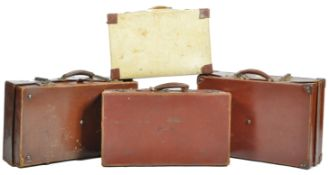 COLLECTION OF VINTAGE LUGGAGE - LEATHER SUITCASES