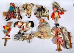 COLLECTION OF X8 ASSORTED PELHAM PUPPETS